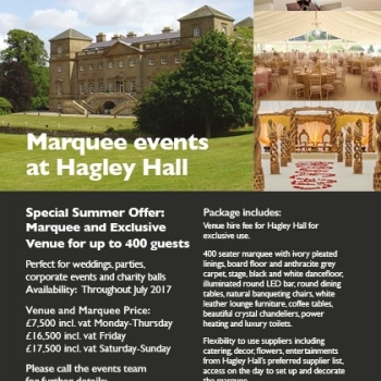 Fews Marquees events at Hagley Hall