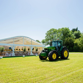 Marquee and tractor