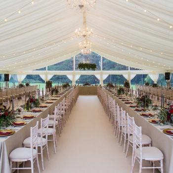 Luxury marquee wedding