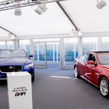 Long term hire marquee Jaguar Land Rover