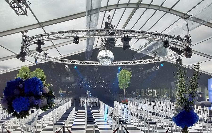 Corporate Conference Marquee 25m Clear PVC Roofs