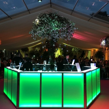 Party marquee bar