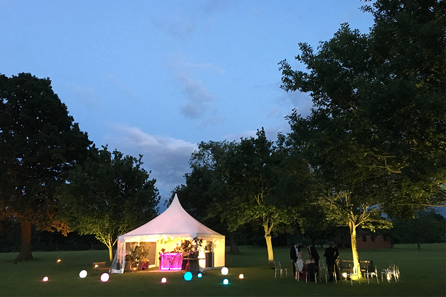 Party Marquee Reception