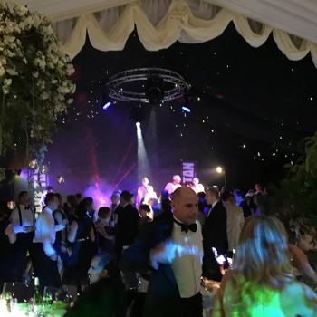 Party marquee crowd