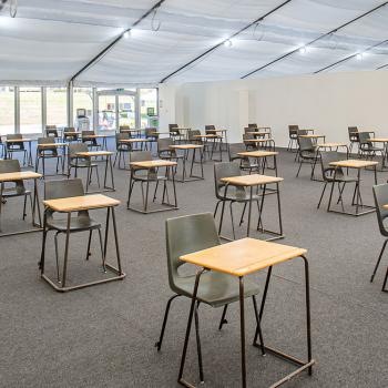 Social Distancing Marquee for Schools