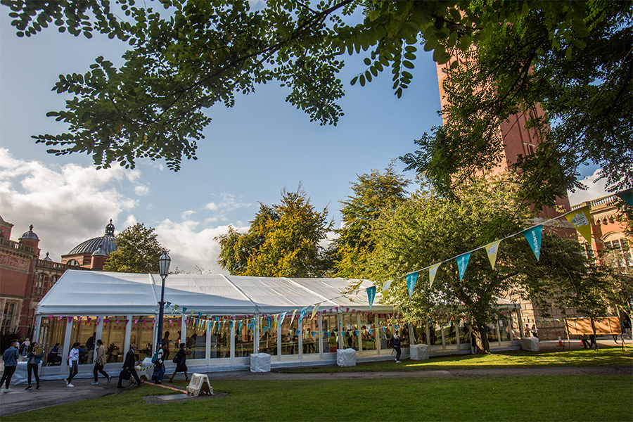 Birmingham University Freshers Week Marquee