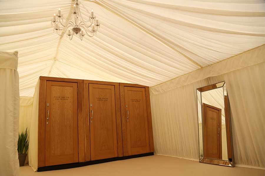 Wedding Marquee Cloakrooms