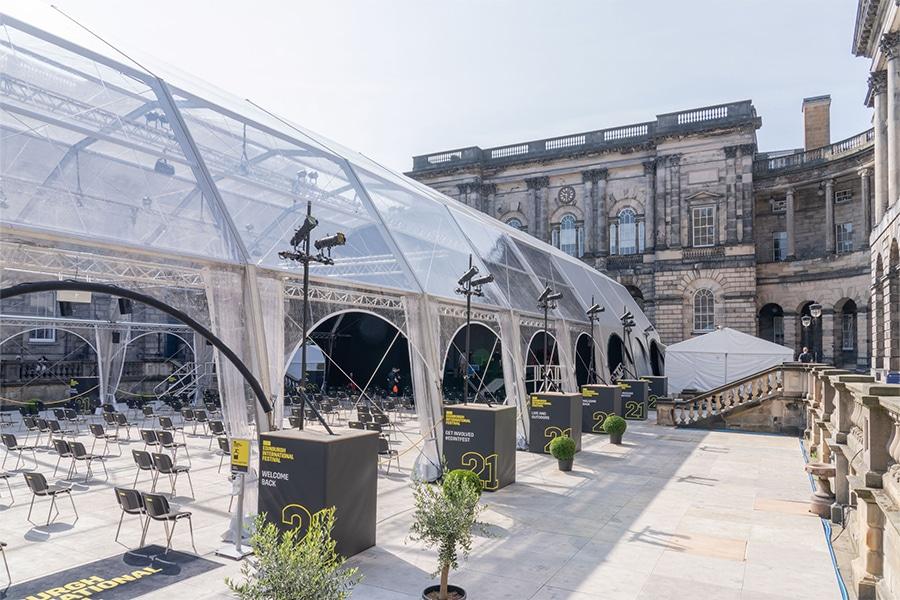 Igloo marquees at Edinburgh International Festival