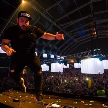 Festival Crowd and DJ