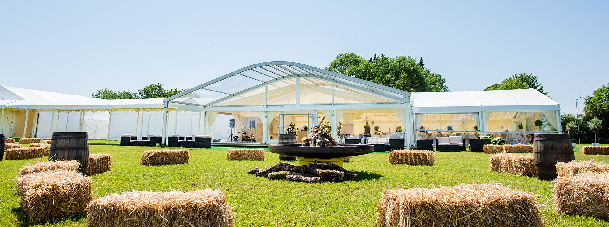 Luxury Country Wedding marquee
