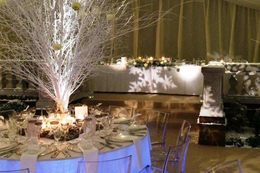 Tree branches table decoration