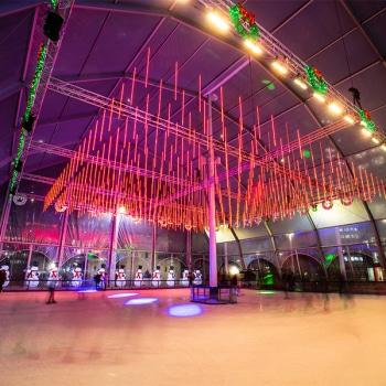 Ice rink igloo marquee