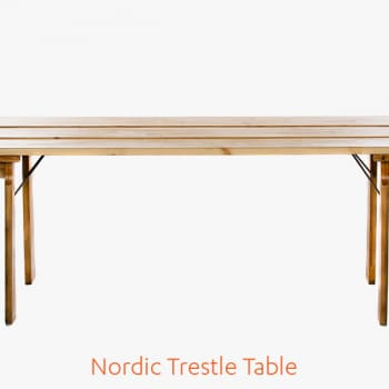 Nordic Trestle Table Luxury Marquee