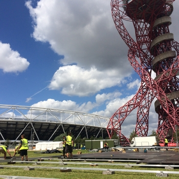 Olympic Park Marquee Build