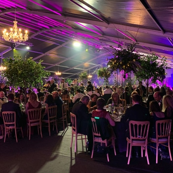 corporate christmas party marquee