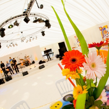 Pheonix Group evemt marquee interior