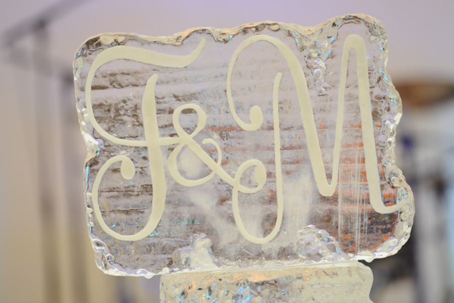Wedding Ice Display