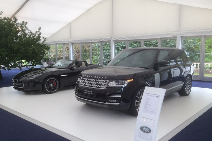 Temporary Car Showroom Marquee For Range Rover