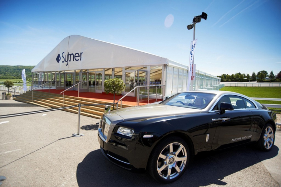 Temporary Car Showroom Marquee For Rolls Royce