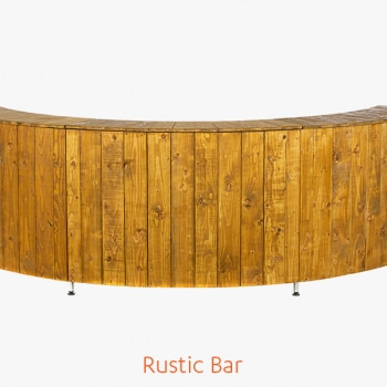 Rustic Bar for Luxury Marquee