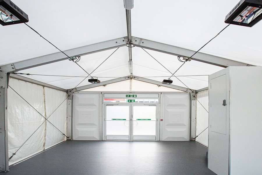 Covid Test Marquee