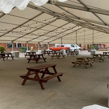 Social distancing marquee
