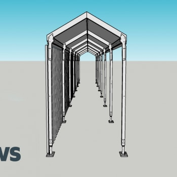 Temporary Walkway Canopy