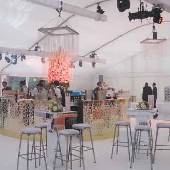 White Flat Lining Marquee