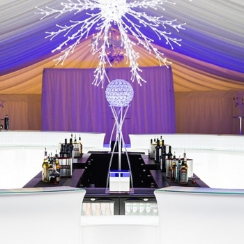 Ice white bar in marquee