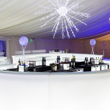 Ice white bar inside Fews marquee