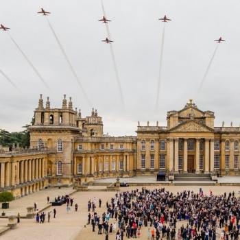 The Red Arrows over Blenheim Palace
