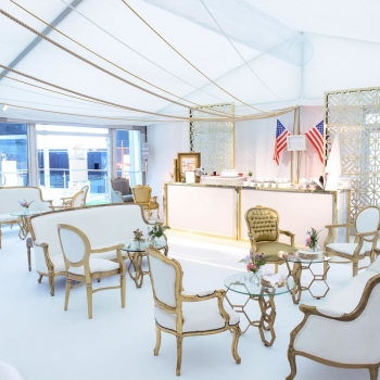 Cunard event marquee by Fews Marquees