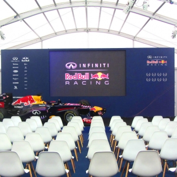 Red Bull Racing corporate event marquee