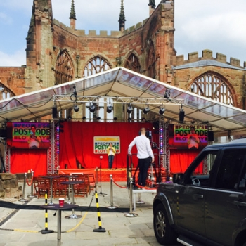 Coventry Cathedral marquee