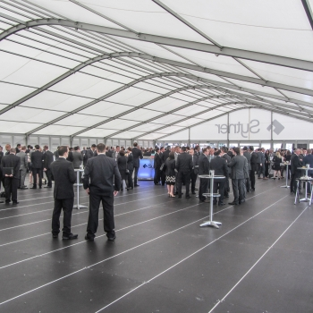 Fews Marquees provided interior cooling equipment to keep the Sytner attendees comfortable