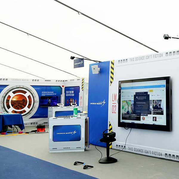 Corporate marquees for exhibitions