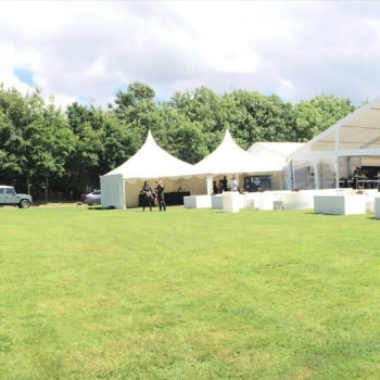 Grand Prix party marquee from outside