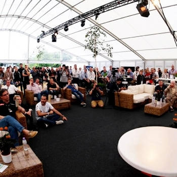 Force India event marquee with guests
