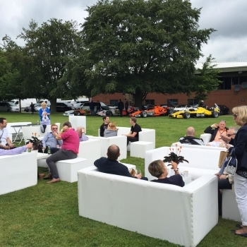 Force India event outside seating