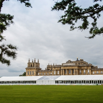 Marquee outside Blenheim Palace