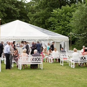 Country wedding marquee