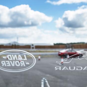Jaguar Land Rover marquee glass detail