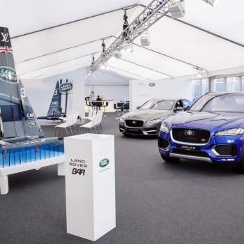Jaguar Land Rover marquee from Fews