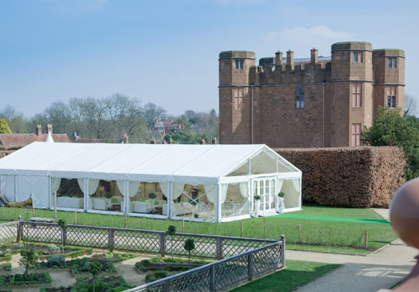 Kenilworth Castle with marquee
