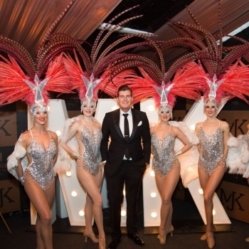 Fews Marquees Real Party MJK burlesque dancers