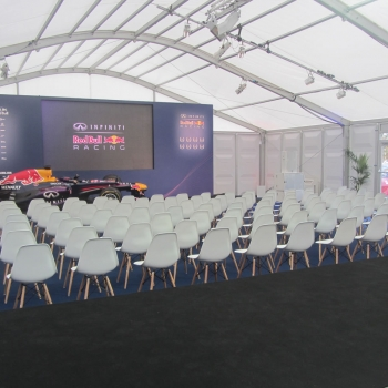 Fews Marquees ensured that the structure was spacious enough for the cars to be displayed