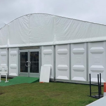 marquee for school covid testing