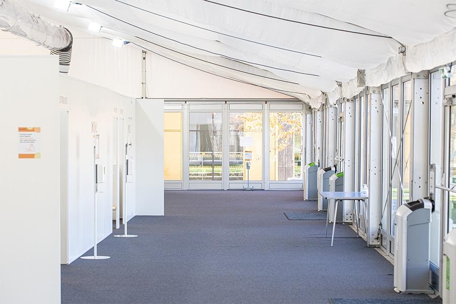 temporary medical centres