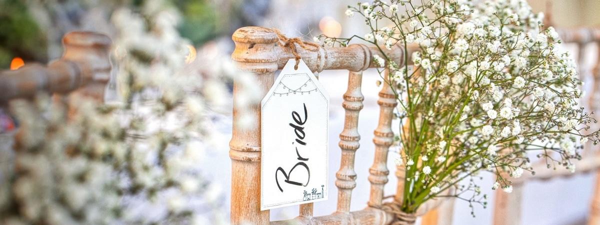 Bride chair detail