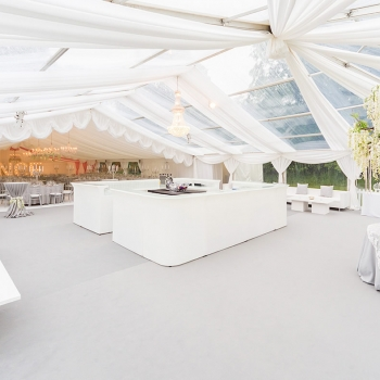 Luxury wedding marquee with bar